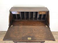 Early 20th Century Antique Oak Geometric Bureau (M-1657) (14 of 17)