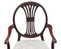 Set of 8 '6+2' Carved Mahogany Dining Chairs Late 19th Century (7 of 12)
