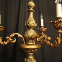 Florentine Gilded Triple Light Polychrome Chandelier (10 of 10)