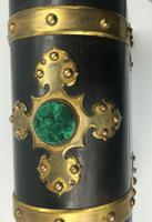 Charles Asprey Gothic Revival Ebonised Box Cask Malachite Mounts c.1865 (4 of 7)
