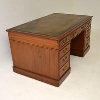 Large Antique Victorian  Mahogany  Pedestal Desk (7 of 12)