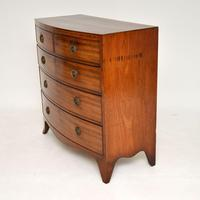 Antique Georgian Mahogany Bow Front Chest of Drawers (2 of 10)