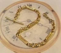Vintage Pocket Watch Chain 1950s 12ct Gold Plated Large Fancy Link Albert Victorian Revival (2 of 12)