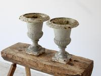Pair of Vintage French Weathered Medici Urns (3 of 7)
