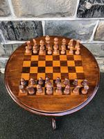 Antique Inlaid Walnut Tripod Games Table (5 of 7)