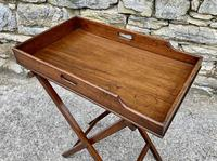 Small Antique Mahogany Butlers Tray on Stand (12 of 15)