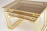 1970's Vintage Italian Brass & Glass Nest of 3 Tables (10 of 10)