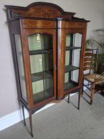 Edwardian Inlaid Display Cabinet (6 of 6)