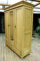 Beautiful Old Pine Triple Knock Down Wardrobe (4 of 15)