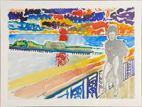 John Bratby - The Grand Hotel Brighton Terrace with the Promenade & West Pier (2 of 2)