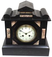 Antique French Slate Mantel Clock 8-Day Striking Mantle Clock c.1900 (5 of 5)