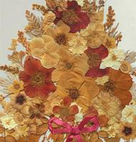 19th Century Victorian Floral Still Life of Pressed Flowers Picture (8 of 12)