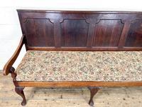 Antique George III Oak Settle Bench (4 of 10)