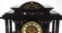 Amazing Mappin & Webb French Slate & Marble Mantel Clock 8 Day Striking Mantle Clock (6 of 10)