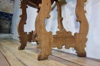 Charming 18th Century Italian Demi-Lune Lyre-Leg Fruitwood Table (9 of 13)