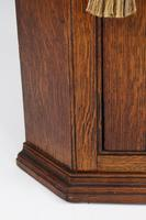 Georgian Oak Corner Cupboard with Britannia Inlay (4 of 13)