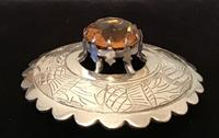 Large Silver Plated and Cairngorm Plaid Brooch (2 of 3)