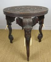 Anglo Indian Carved Elephant Table Early 20th Century (11 of 11)