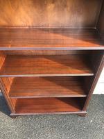 Tall English Mahogany Open Library Bookcase (8 of 10)