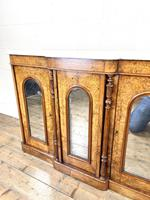 Victorian Inlaid Walnut Credenza with Marble Top (5 of 10)