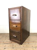 Early 20th Century Antique Oak Three Drawer Filing Cabinet (4 of 11)