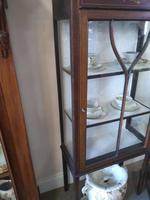 Pair of Edwardian Glazed Mahogany Display Cabinet with 2 Shelves (3 of 8)