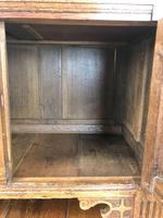 Antique Oak Cupboard with Carved Detail (3 of 11)
