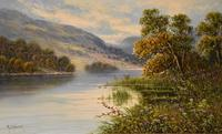 """Oil Painting by M.C Hider """"A Highland Loch"""" (2 of 5)"""