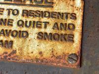Large Heavy Rusted Cast Iron Railway Plaque Sign Train Notice (7 of 25)