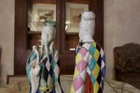 Charming Near Pair of 18th Century Chinese Export Immortals - Harlequin (7 of 11)