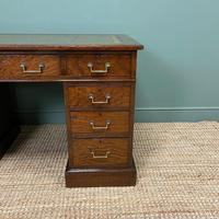 Quality Oak Victorian Antique Pedestal Desk (7 of 8)