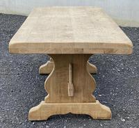 Bleached Oak Trestle End French Farmhouse Dining Table (19 of 22)