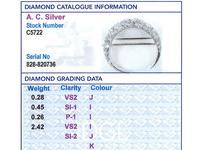 3.41ct Diamond & 9ct Yellow Gold Crescent Brooch - Antique c.1890 (8 of 9)