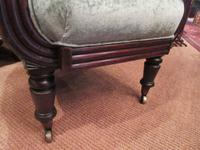 Early Victorian Antique Porter's Barrel Back Wing Armchair (4 of 6)