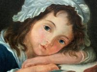 Enchanting Original 20thc English Sch Oil Portrait Painting Of A Victorian Child (4 of 8)