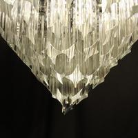 Italian Venini Crystal Triple Light Chandelier (4 of 10)