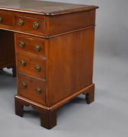 Victorian Oak & Walnut Pedestal Desk (8 of 10)