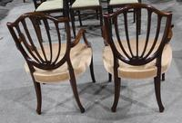 1960s Pair of Mahogany Shieldback Carver Chairs Pale Pink (2 of 3)