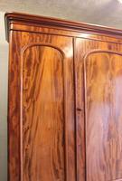 Antique Victorian Mahogany Triple Door Wardrobe (14 of 21)