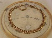 Antique Pocket Watch Chain 1890s French Victorian 14ct Rose Gold Filled Albert (3 of 12)