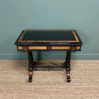 Victorian Ebonized and Walnut Antique Games Table (5 of 9)