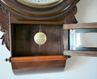 1890 Anglo American Striking Drop Dial Wall Clock (3 of 7)
