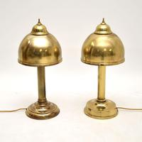 Pair of Vintage Brass Table  Lamps (2 of 7)