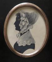 Late Georgian Portrait Silhouette Lady Lace Bonnet (2 of 4)