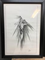 Pair 1950/60's Aeronautical Sketches, Signed (6 of 8)