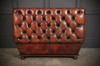 Large Hand Dyed Buttoned Leather Ottoman (14 of 14)