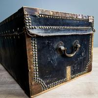 Victorian Leather & Brass Studded Trunk (7 of 14)