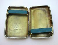 Edwardian 1902 English Antique Solid Sterling Silver Hip Pocket Small Cigarette Case (7 of 10)