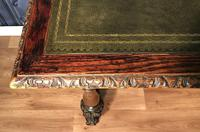 Victorian Carved Oak Library Table (3 of 25)