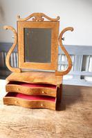Swedish Birch / Masurbjörk Box Mirror Rococo style c.1820 (9 of 15)
